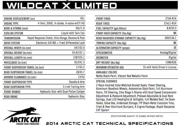 2014-arctic-cat-wildcat-x-limited-specs-utvunderground.com