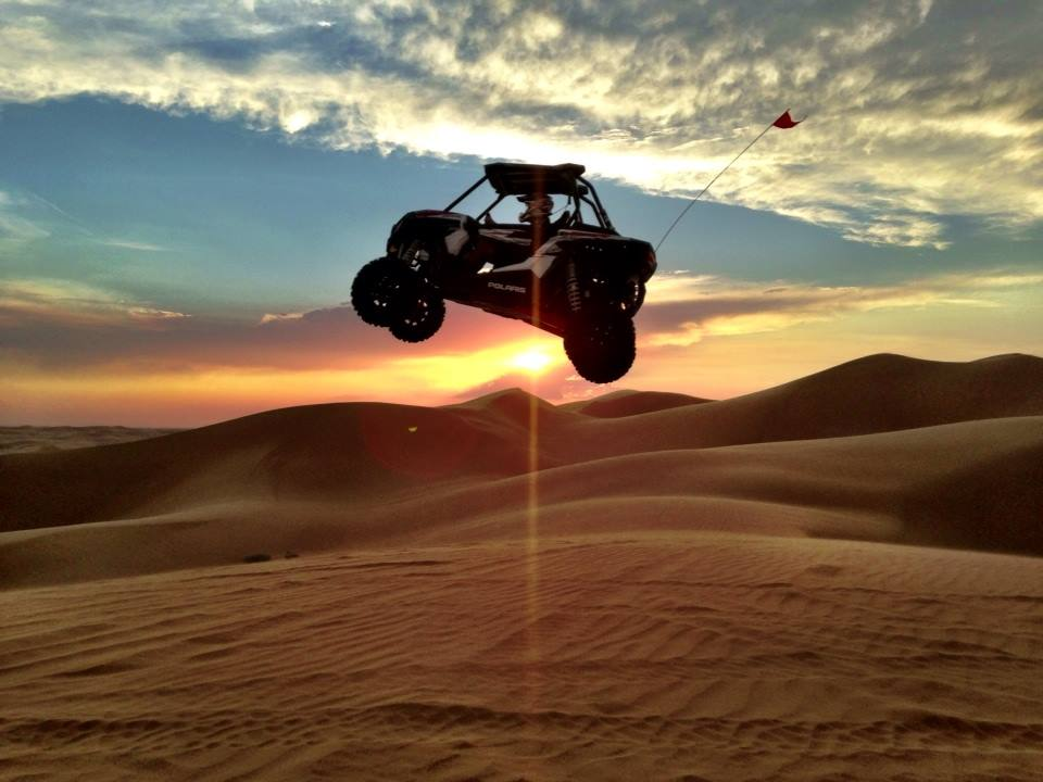 """What an awesome photo. I will never forget when Wally hit that jump in Glamis. He rode over to us after this moment and said """"I think I hit it a little too fast""""! lol He was so stoked that we had gotten photo and video of his flight."""