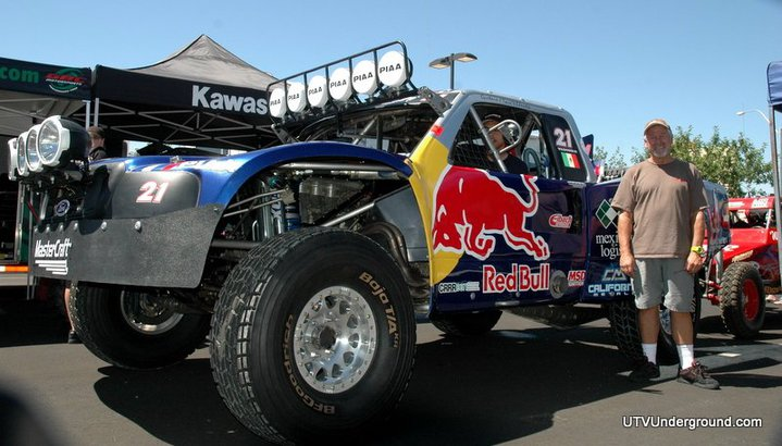 A shot I got of Wally in I think 2011 with a Vildosola Red Bull Trophy Truck paint scheme he did.