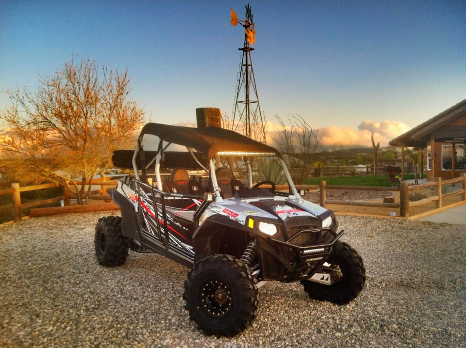 One of Wally's many RZRs taken in front of the Wally World Ranch! I always loved his property!