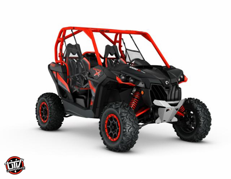 2016 Maverick X rs 1000R TURBO Carbon Black - Can-Am Red_3-4 front004-utvunderground.com