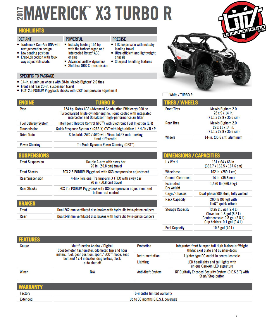 2017 Maverick X3 Turbo R copy-utvunderground.com