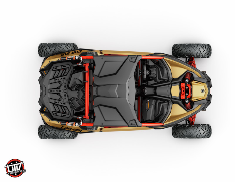 2017_Maverick X3 X rs TURBO R Gold and Can-Am Red_top-utvunderground.com