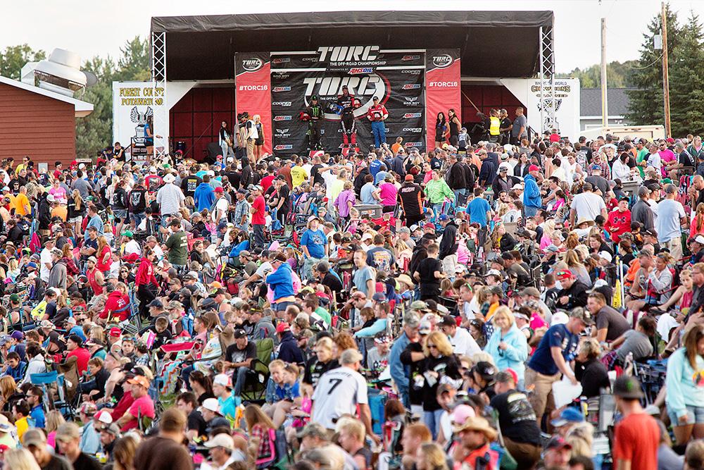 PRO 2WD Class podium at Crandon International Off-Road Raceway in Crandon, WI on Sept. 3, 2016