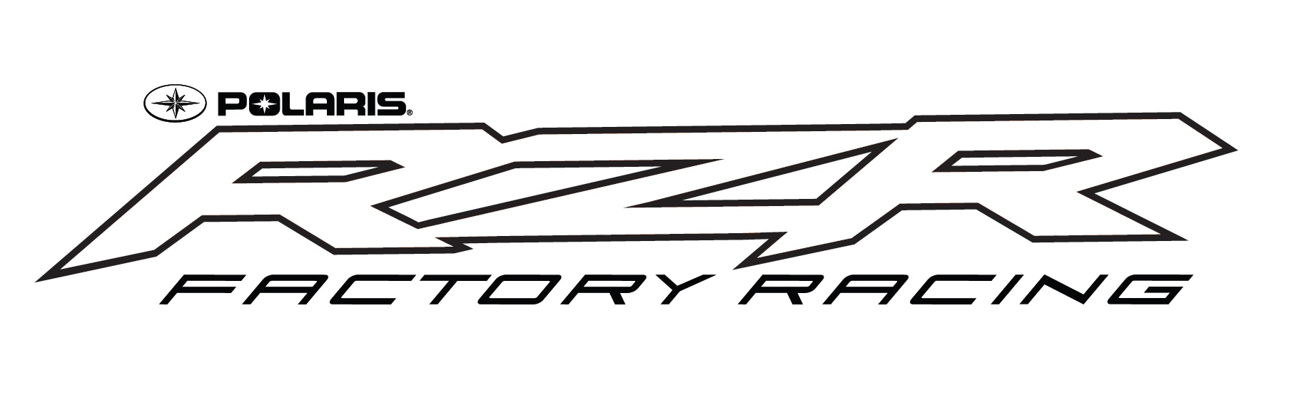 RZR Factory Racing Logo B&W