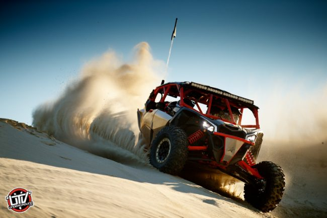Maverick X3 MAX X rs - Gold _ Can-Am Red - Dunes 1-utvunderground.com