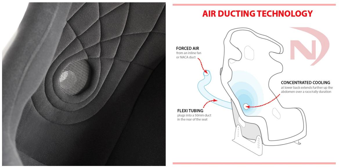NecksGen Competition Seats Air Ducting Technology
