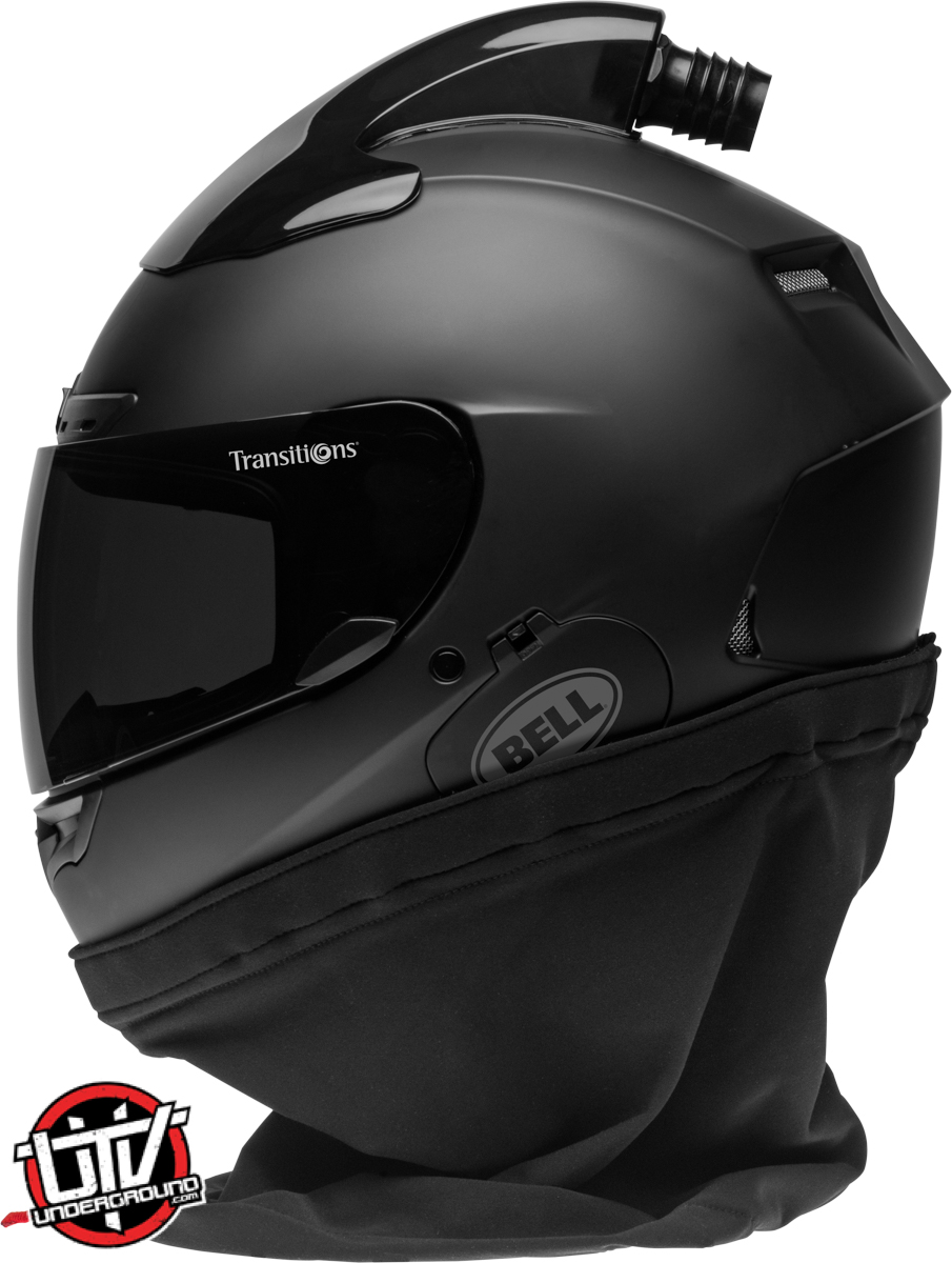 Bell qualifier dlx forced air side by side helmet gloss white left