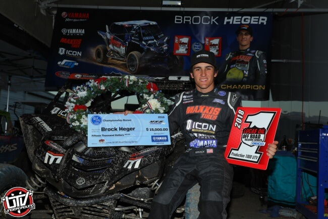 Brock Heger Wins National Lucas Oil Off Road Championship In Yamaha YXZ1000R