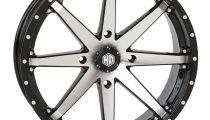 STI HD10 Wheels Machined Black