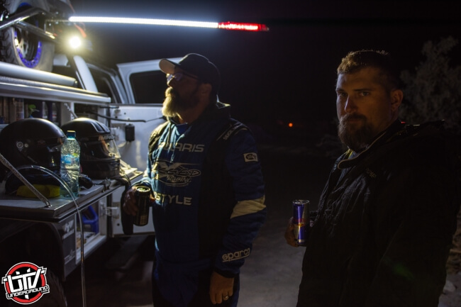 Jagged X Racing Driver Pat Stone and Co-Driver Jason Spiess at race mile 270 of the 2018 Baja 1000