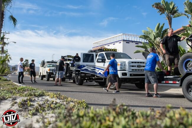 Jagged X Racing Loading Up Chase Trucks at 2018 Baja 1000