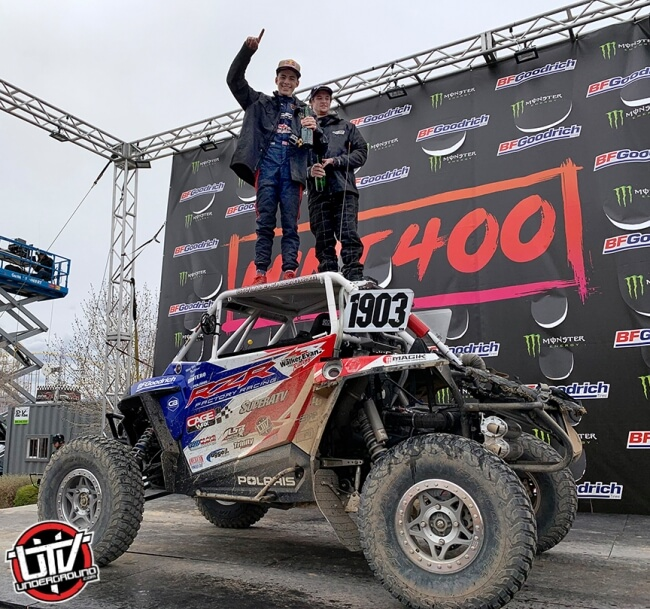Seth Quintero takes the in class win at the 2019 Mint 400