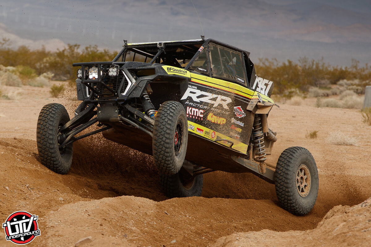 Mitch Guthrie Jr 4WheelParts (4WP) driver at the 2019 Mint 400