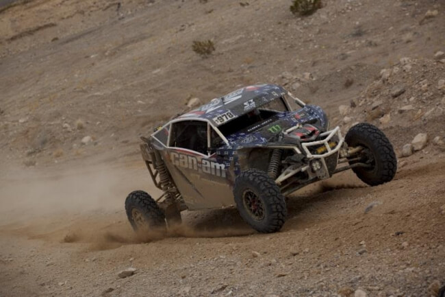 Dustin Jones took fifth place in Nevada to maintain his UTV Turbo class points lead.