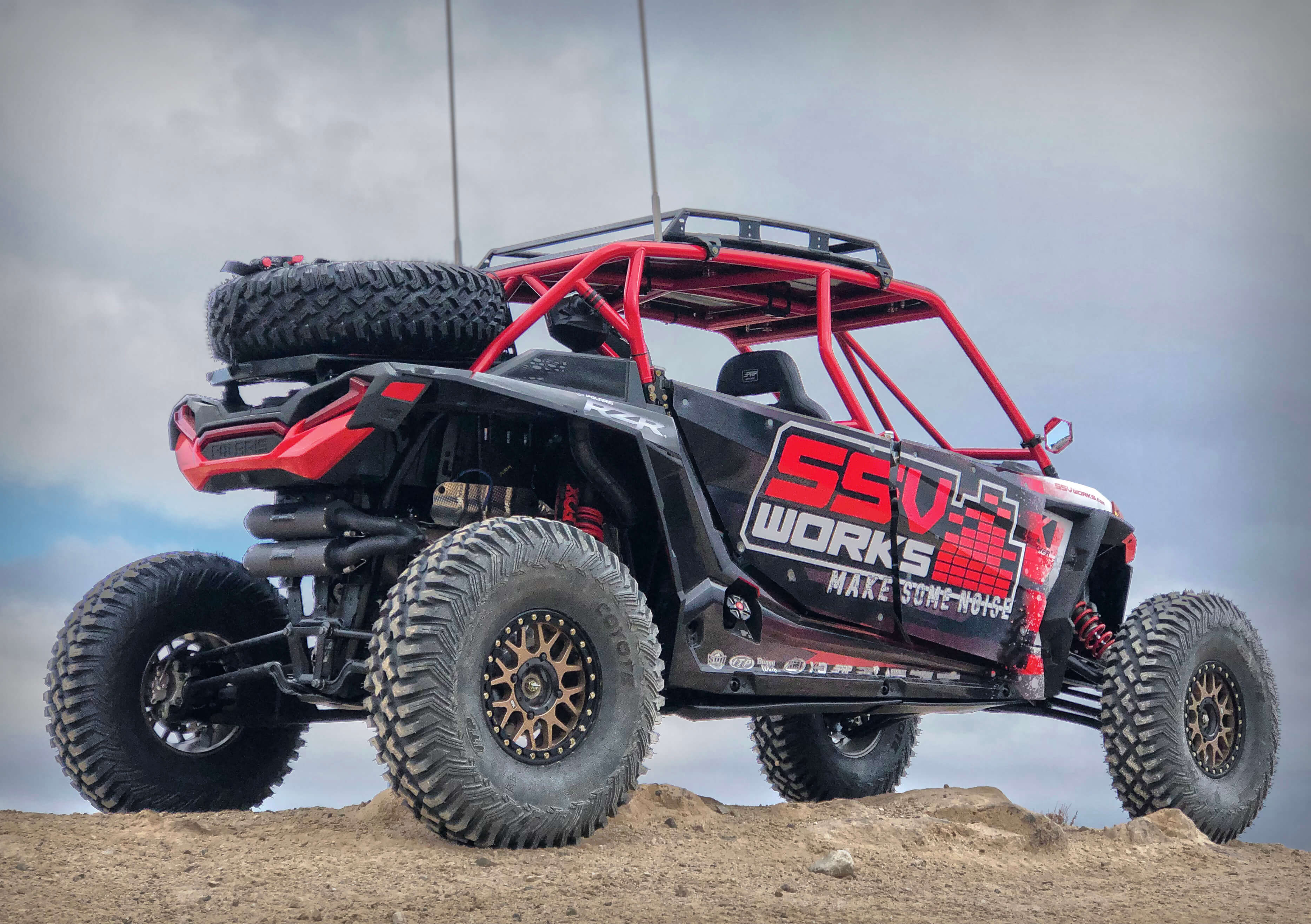 Polaris RZR XP Turbo S Equipped with SSV Works' New 5-Speaker Ride Command-Ready Audio Kit