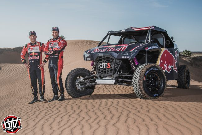 Nasser Al-Attiyah Matthieu Baumel and the OT3 by Overdive in Erfoud, Morocco on October 3, 2019 // Flavien Duhamel/Red Bull Content Pool // AP-22EBTF24H2111 // Usage for editorial use only //