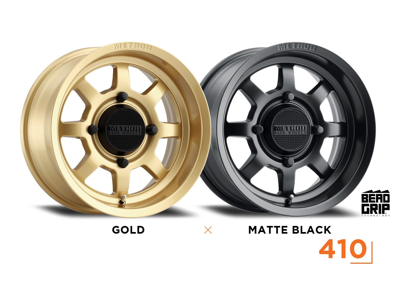Method Race Wheels UTV Side by Side 410 Gold and Matte Black