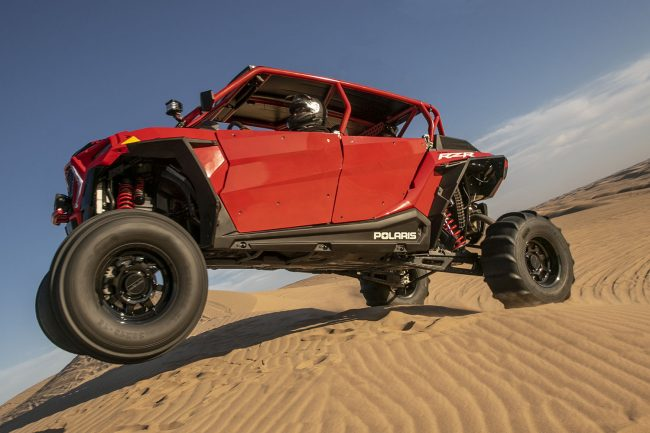 Method Race Wheels UTV Side by Side 410 on SDR Polaris RZR jumping at the dunes