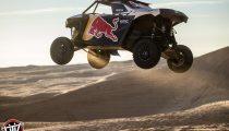 Red Bull Off-Road Junior Team member Blade Hildebrand drives at Glamis in Brawley, CA
