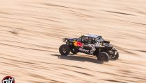 Red Bull Off-Road Junior Team member Mitch Guthrie drives at Glamis in Brawley, CA