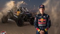 Red Bull Off-Road Junior Team member Seth Quintero poses for a portrait at Glamis in Brawley, CA