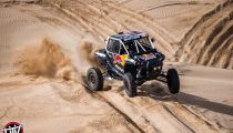 Red Bull Off-Road Junior Team member Seth Quintero drives at Glamis, CA