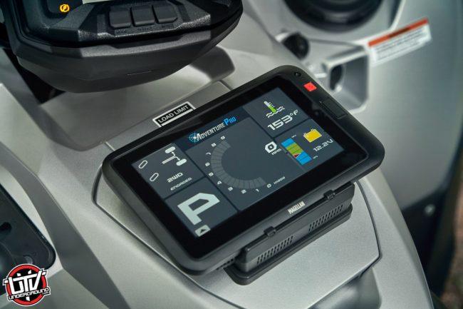 Yamaha Accessories Magellan GPS Mounted