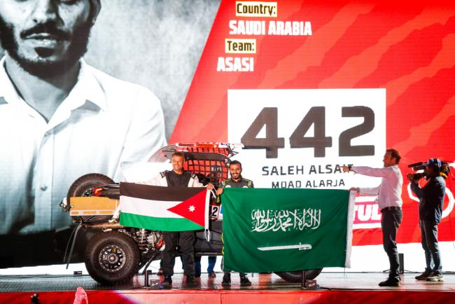 #442 Abudullah Saleh (sau), Moad A (jor), Can-Am, Race World Team, SSV, action during the departure ceremony of the 2020 Dakar in Jeddah, Saudi Arabia on January 4, 2020 - Photo Julien Delfosse / DPPI