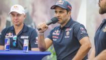 Nasser Al-Attiyah (QAT) of Toyota Gazoo Racing Team seen at the Red Bull Energy Station of Rally Dakar 2020 Djeddah, Saudi Arabia on January 04, 2020.