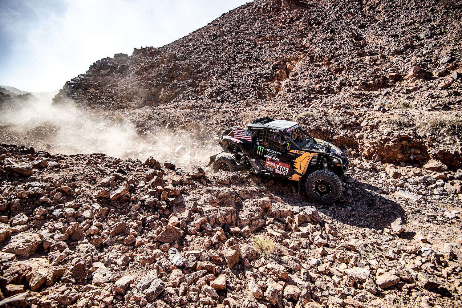 Casey Currie at Stage 2 of 2020 Dakar Rally