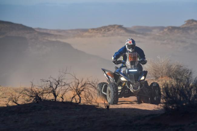 273 Dutu Romain (fra), Yamaha, Team Rac Racing, Quad, action during Stage 5 of the Dakar 2020 between Al Ula and Ha'il, 563 km - SS 353 km, in Saudi Arabia, on January 9, 2020 - Photo DPPI