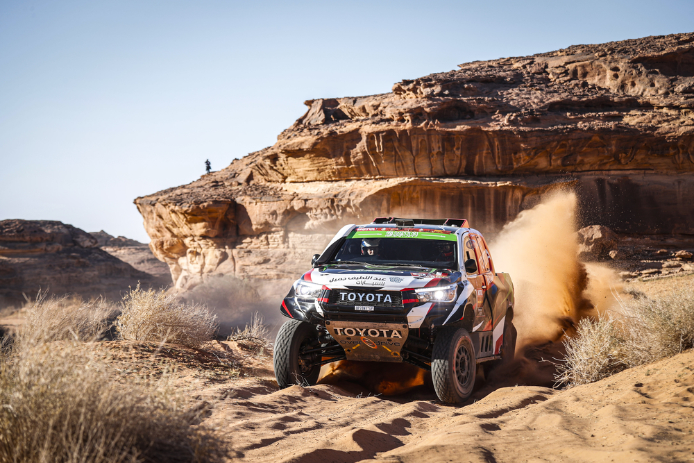 309 Al Rajhi Yazeed (sau), Zhiltsov Konstantin (rus), Toyota Hilux, Overdrive Toyota, Auto, Car, action during Stage 5 of the Dakar 2020 between Al Ula and Ha'il, 563 km - SS 353 km, in Saudi Arabia, on January 9, 2020 - Photo Francois Flamand / DPPI