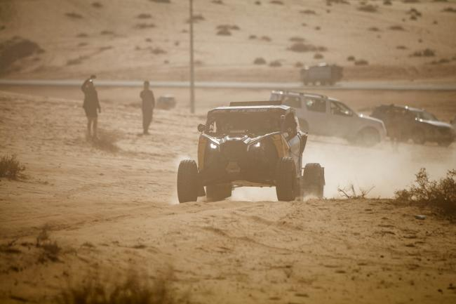 Casey Currie at Stage 5 of the 2020 Dakar Rally