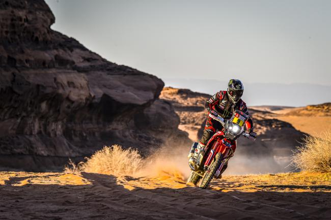 09 Brabec Ricky (usa), Honda, Monster Energy Honda Team 2020, Moto, Bike, Motul, action during Stage 5 of the Dakar 2020 between Al Ula and Ha'il, 563 km - SS 353 km, in Saudi Arabia, on January 9, 2020 - Photo DPPI