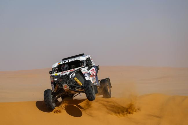 400 Lopez Contardo Francisco (chl), Latrach Vinagre Juan Pablo (chl), Can - Am, South Racing Can-Am, SSV, action during Stage 7 of the Dakar 2020 between Riyadh and Wadi Al-Dawasir, 741 km - SS 546 km, in Saudi Arabia, on January 12, 2020 - Photo Frederic Le Floc'h / DPPI