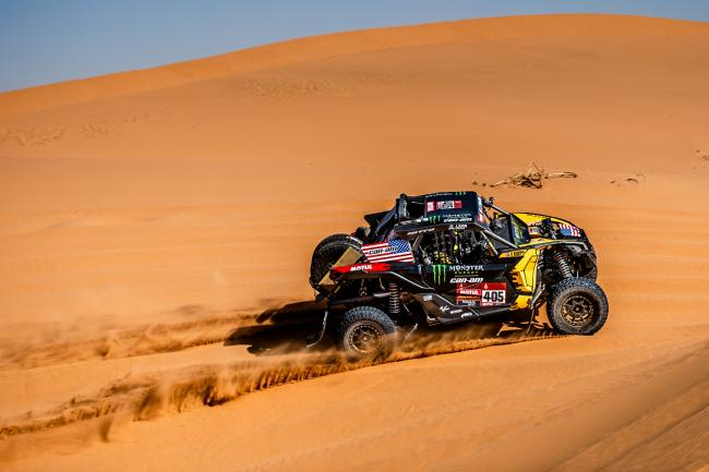 Casey Currie at Stage 7 of the 2020 Dakar Rally