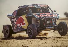 Blade Hildebrand (USA) and François Cazalet (FRA) of SSV Red-Bull Off-Road Team USA races during stage 7 of Rally Dakar 2020 from Riyad to Wadi Al-Dawasir, Saudi Arabia on January 12, 2020.