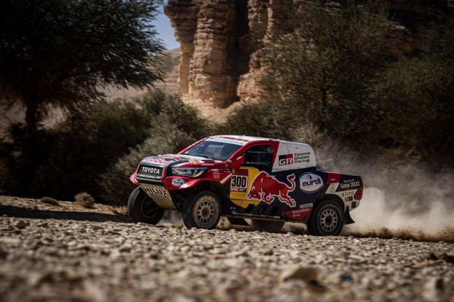 Nasser Al-Attiyah at Stage 9 of the 2020 Dakar Rally