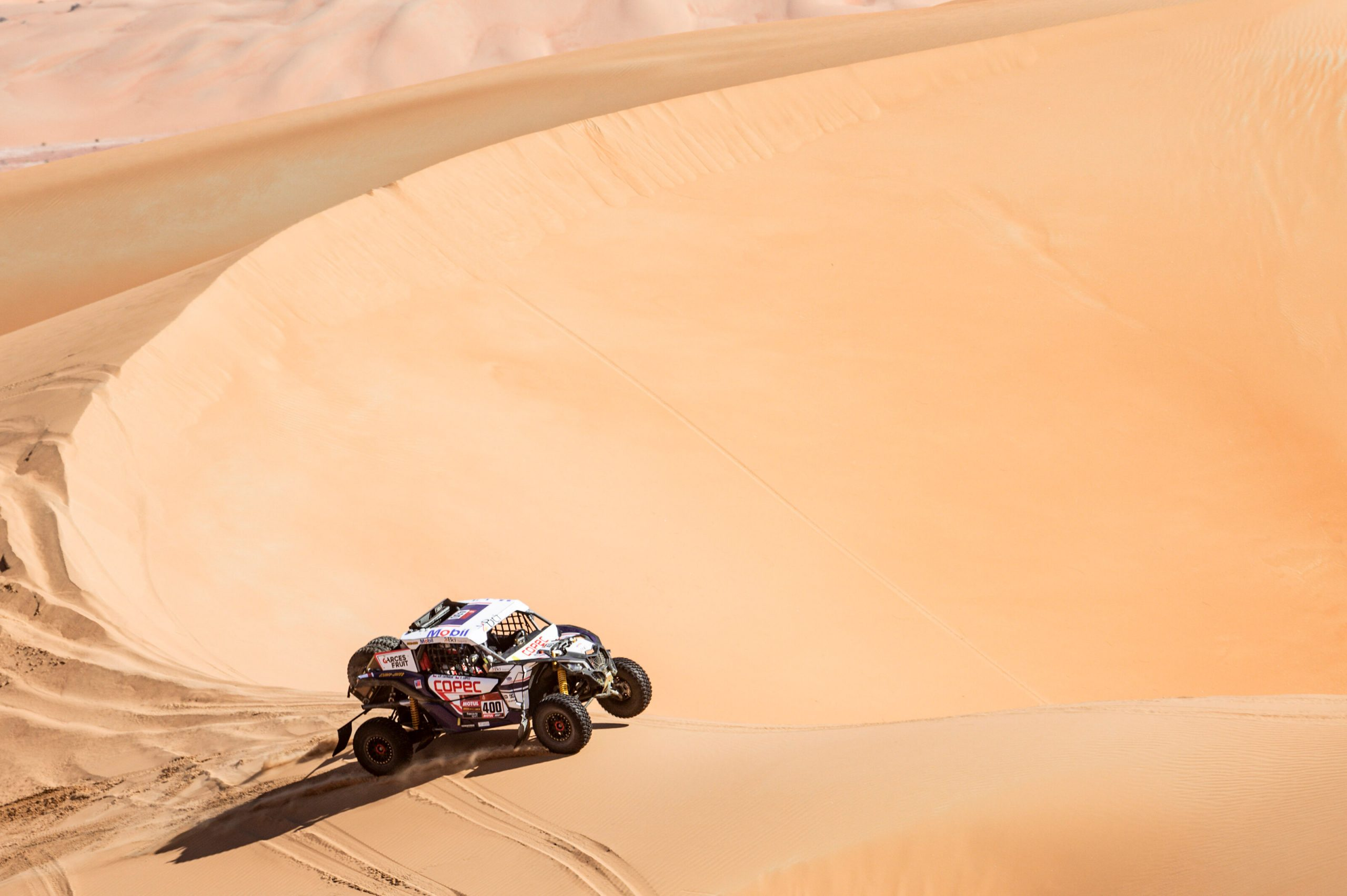 Francisco Chaleco Lopez (CHL) races during stage 11 of Rally Dakar 2020 from Shubaytah to Haradh, Saudi Arabia on January 16, 2020