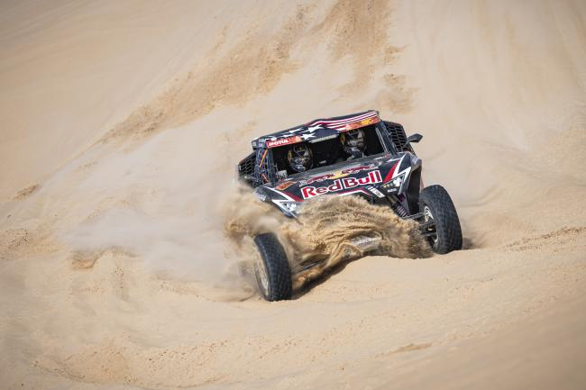 Blade Hildebrand (USA) of Red Bull Off-Road Team USA races during stage 10 of Rally Dakar 2020 from Haradh to Shubaytah, Saudi Arabia on January 15, 2020