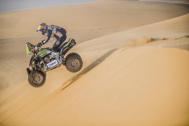 Ignacio Casale (CHL) of Yamaha Casale Racing Team races during stage 10 of Rally Dakar 2020 from Harad to Shubaytah, Saudi Arabia on January 15, 2020.