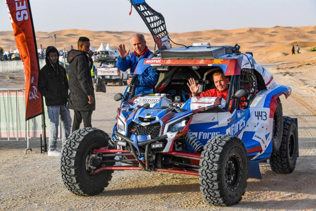 443 Shmotev Aleksei (rus), Rudnitski Andrei (blr), Can-Am, Snag Racing Team, SSV, ambiance`. during Stage 10 of the Dakar 2020 between Haradh and Shubaytah, 608 km - SS 534 km, in Saudi Arabia, on January 15, 2020 - Photo Eric Vargiolu / DPPI