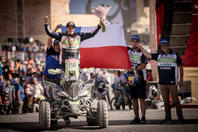 Ignacio Casale (CHL) is seen at the finish line of Rally Dakar 2020 from in Qiddiya, Saudi Arabia on January 17, 2020 // Marcelo Maragni/Red Bull Content Pool // AP-22TYBQPSN2511 // Usage for editorial use only //