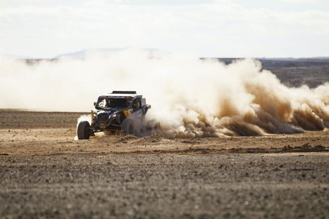 Casey Currie at Stage 4 of 2020 Dakar Rally - Neom to Al Ula