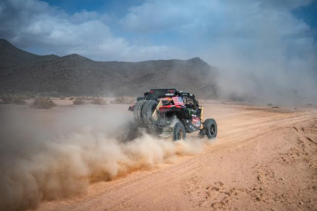 Casey Currie at Stage 4 of 2020 Dakar Rally - Neom to Al Ula. Photo by MCH Photo