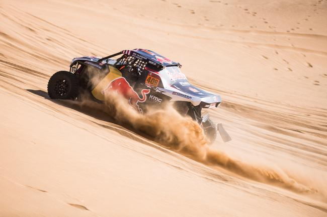 Blade Hildebrand at stage 8 of the 2020 Dakar Rally