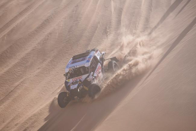 Francisco Chaleco Lopez (CHL) races during stage 08 of Rally Dakar 2020 from Wadi Al Dawasir to Wadi Al Dawasir, Saudi Arabia on January 13, 2020