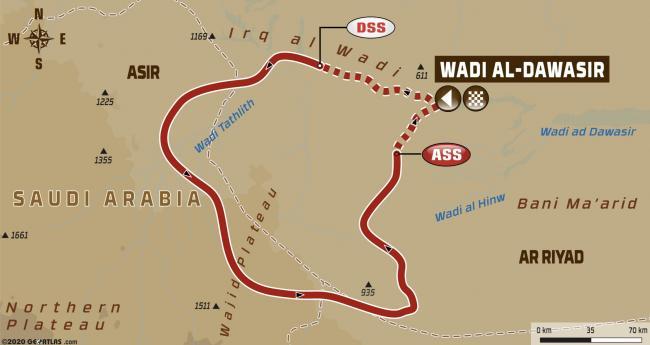 Dakar Rally Stage 8 Map