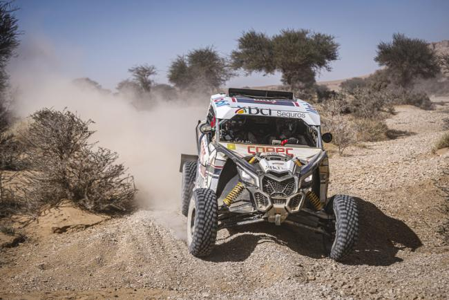 400 Lopez Contardo Francisco (chl), Latrach Vinagre Juan Pablo (chl), Can - Am, South Racing Can-Am, SSV, action during Stage 9 of the Dakar 2020 between Wadi Al-Dawasir and Haradh, 891 km - SS 415 km, in Saudi Arabia, on January 14, 2020 - Photo Francois Flamand / DPPI